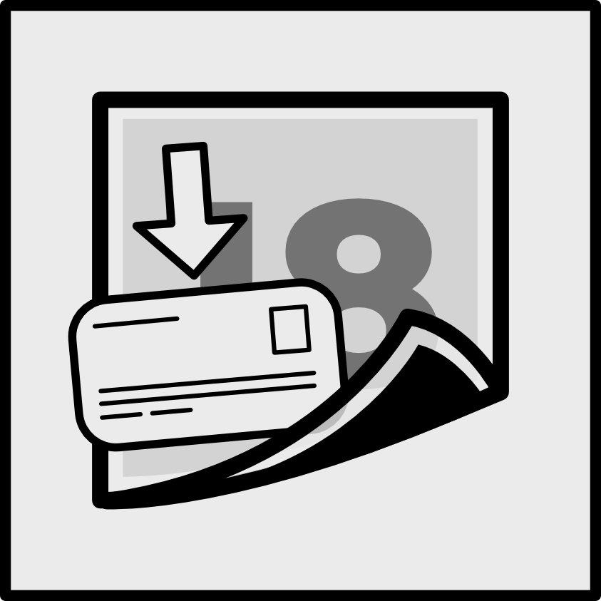 Bin stickers - Instructions - Apply pressure over sticker
